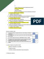 Cuestionario - Escuelas de administración