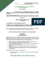 Ley del Sistema de Seguridad Ciudadana de la Ciudad de Mexico