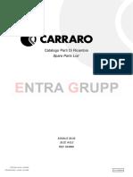 Manual de Partes Carraro 644989