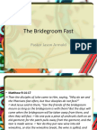 The Bridegroom Fast