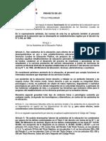 Proyecto de Ley Estatuto a.a.E.E.
