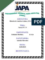 ACTIVIDAD IV HISTORIA DE AMERICA LATINA Y EL CARIBE I