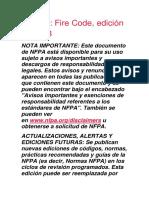 NFPA 1 Codigo de Fuego