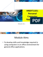 Personal Computer Applications - HNDIT