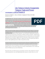 Example Press Release- Illicit Trade