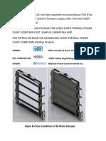 News_FGD (Flue Gas Desulphurization System) Dampers Supply Order