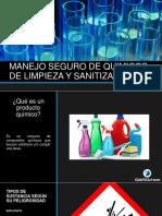 Manejo Seguro de Quimicos de Limpieza y Sanitizacion