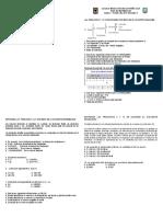 Evaluacion Grado 9 Area Matematicas 1 Periodo