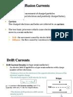 Drift, Diffusion, PN Junction