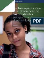 Factores-que-inciden  en el desempeño de los estudiantes en Latam