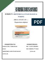 Mgso4 Drug Study