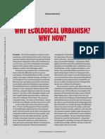 Mostafavi Ecological Urbanism