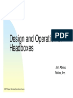 5 Design and Operation of Headboxes(1)