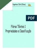 Aula 1 Fibras Têxteis Classificação e Propriedades