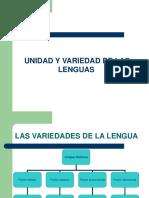 Unidad y Variedad Lingüística