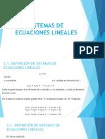 Capítulo III. Sistemas de Ecuaciones Lineales
