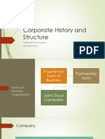 Corporate Governance History and Structure