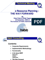 ERP - The Way Forward by Habit Consulting