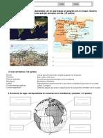 Modelo examen tema 1 Geo-Historia - 1º ESO