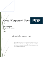 Lesson 4 Good Corporate Governance