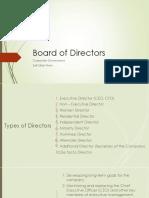 Lesson 5 Board of Directors