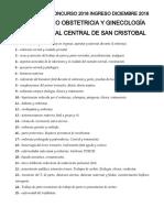 Temario Obstetricia y Ginecologia Hcsc 2018