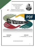 Políticas y Prácticas de Recursos Humanos Informe