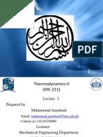 Lecture 2 Thermodynamics-II