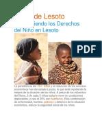 Niños de Lesoto