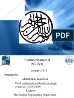 Lecture# 3 & 4Thermodynamics-II