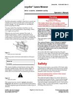 Toro 6.5 GTS Recycler Manual