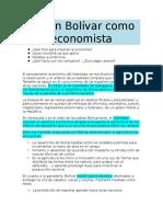 Simón Bolívar en Lo Económico (Cátedra Boliv. II)