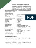 Acta de Declaracion de Marcelino Perez Berrocal