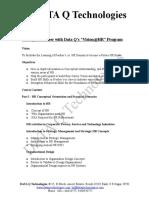 M.B.a. HR Course Details