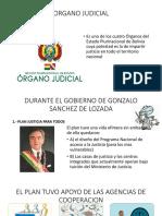 Órgano Judicial comparación entre gobiernos Diapositivas