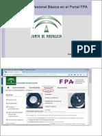 Currículos FPB en El Portal FPA