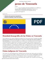 Etnias Indígenas de Venezuela – El Pensante