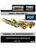 MANUAL DE MANTENIMIENTO SMALL BOLTER - JB77-142