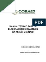 Manual Técnico Para La Elaboración de Reactivos