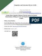 Politeness Theory Testing Martial Relationship Iftikhar Ahmad