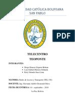 Trabajo 3. Telecentro Teoponte