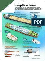 Infographie Carrefour - Le Réseau Navigable en France - Avril 2001