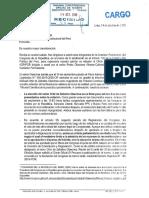 Oficio a Tribunal Constitucional sobre elección de Ortiz de Zeballos