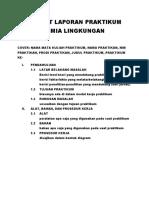 Format Laporan Praktikum Kimia Lingkungan