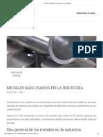 AIT SRL _ Metales más usados en la Industria