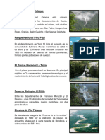 5 Areas Protegidas de Honduras