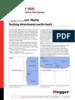 SVERKER 900 Testing Directional Earth Fault an En
