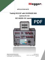 Testing ROCOF Based on New IEC Standard an En