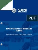 Especificación de Material -Clase3