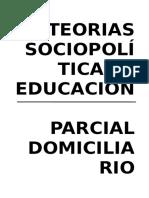 1er Parcial Teoría Sociopolítica y educación